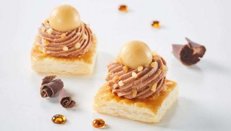 Petits carrés chocolat caramel