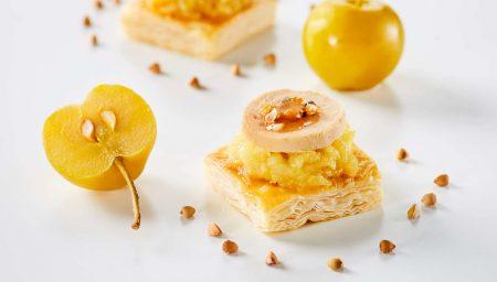 Petits carrés au foie gras